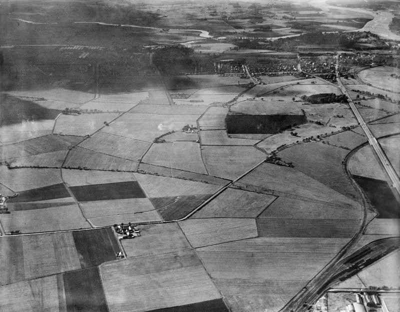 General view, Dean Park, Renfrew, Lanarkshire, Scotland, 1937. Oblique aerial photograph, taken facing north-west.