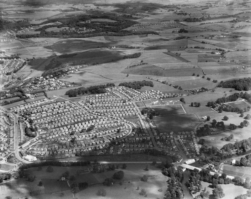 General view, Bearsden, New Kilpatrick, Dunbartonshire, Scotland, 1937. Oblique aerial image, taken facing north.