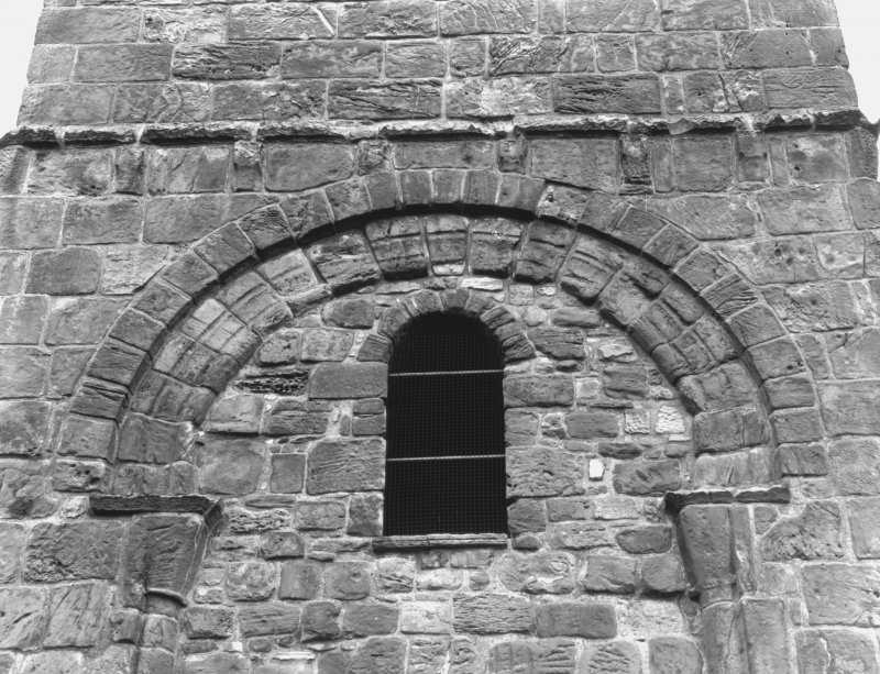 St Rule's Tower. Detail of window.
