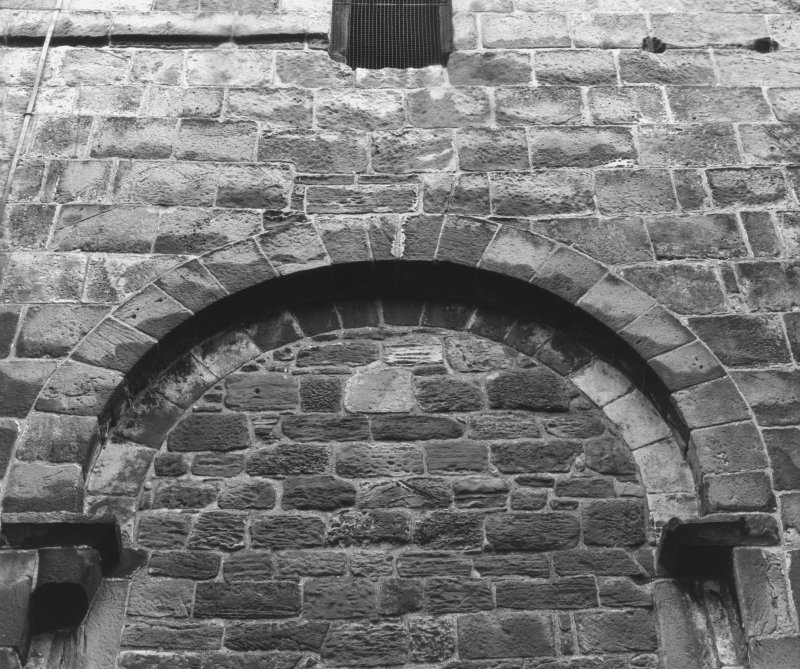St Rule's Tower. Detail of arch.