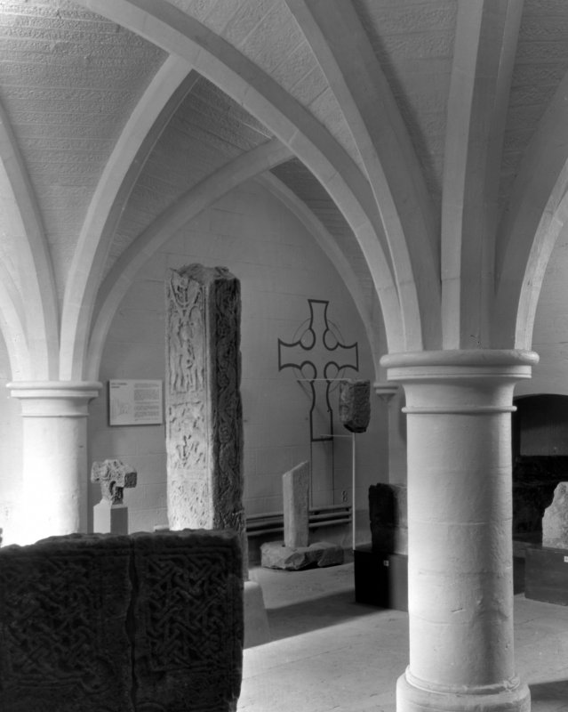 General view of museum showing high cross.