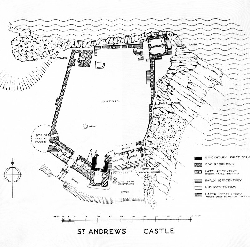 Photographic copy of plan of courtyard.