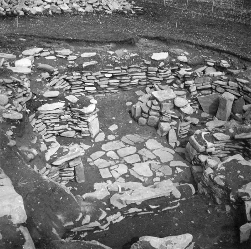 View looking north-east showing the extent of the excavation completed at Jarlshof in 1931.