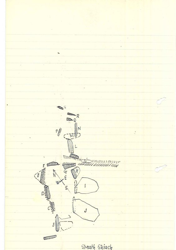 Sketch plan (extract from manuscript)