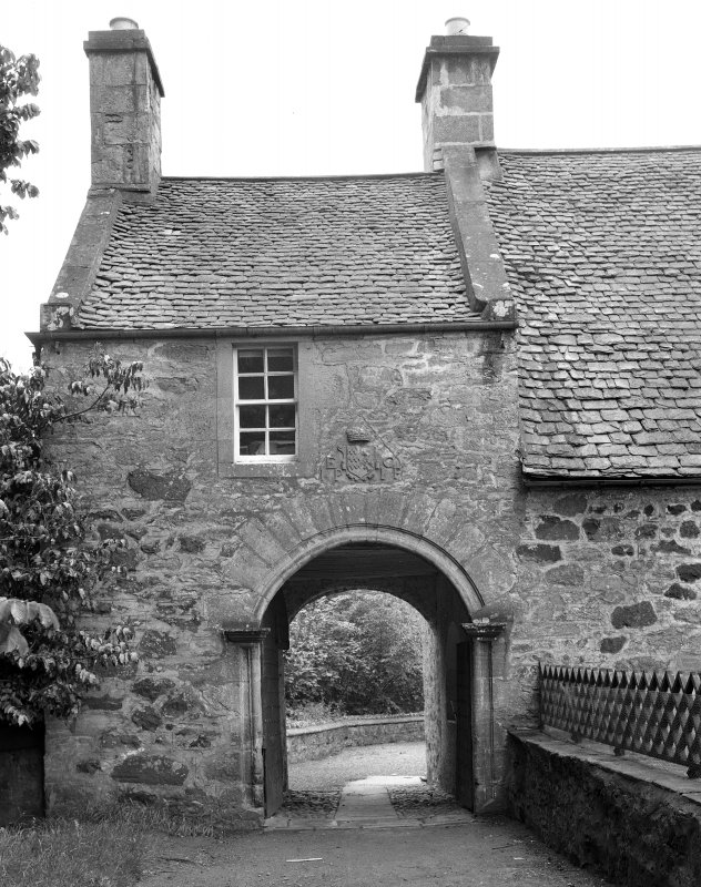 Stobhall. Entrance from NE.