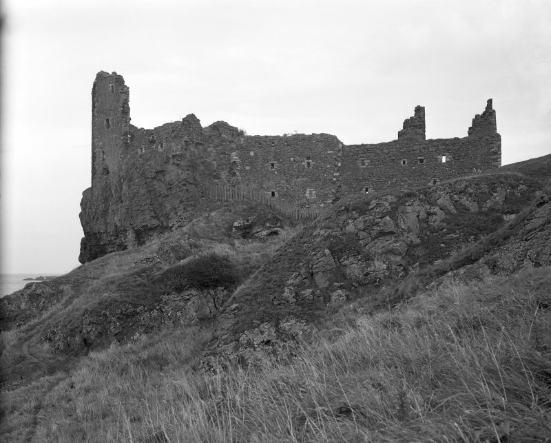 Dunure Castle. View from South.