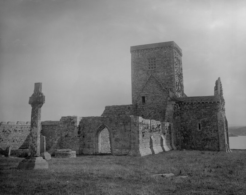 View of Iona Abbey from the North- East.