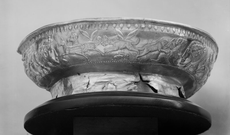 Half of bowl with hunting frieze (No. 36)