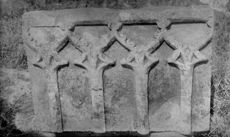 Carved stone from Whithorn Priory