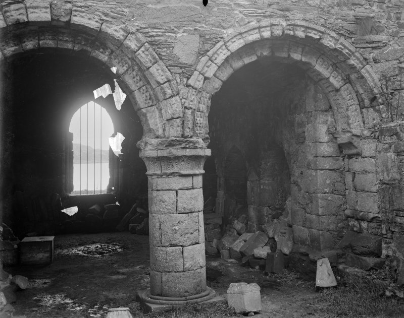 Interior view of Iona Abbey.
