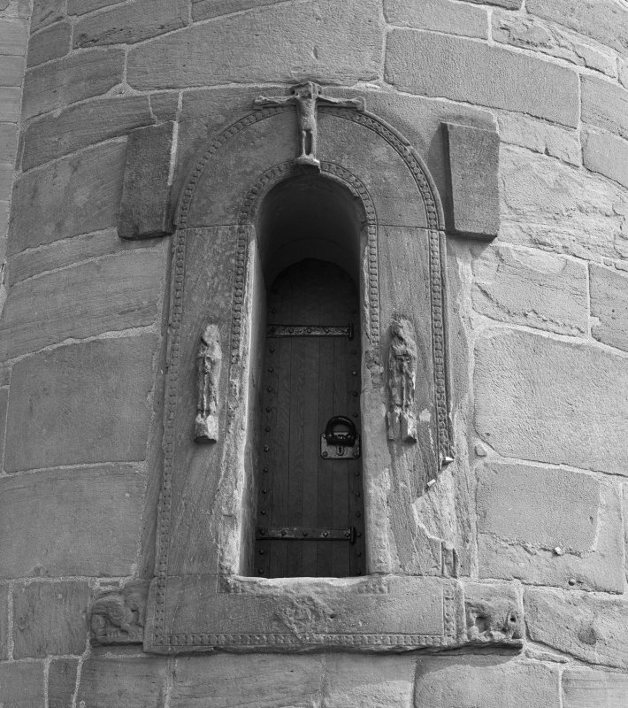 Detail of door in Brechin round tower, Brechin Cathedral.