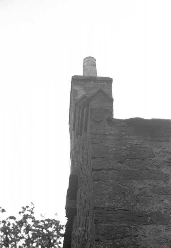 Farnell Castle. Detail of skewput on E. gable.