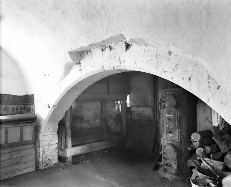 View of Kitchen fireplace