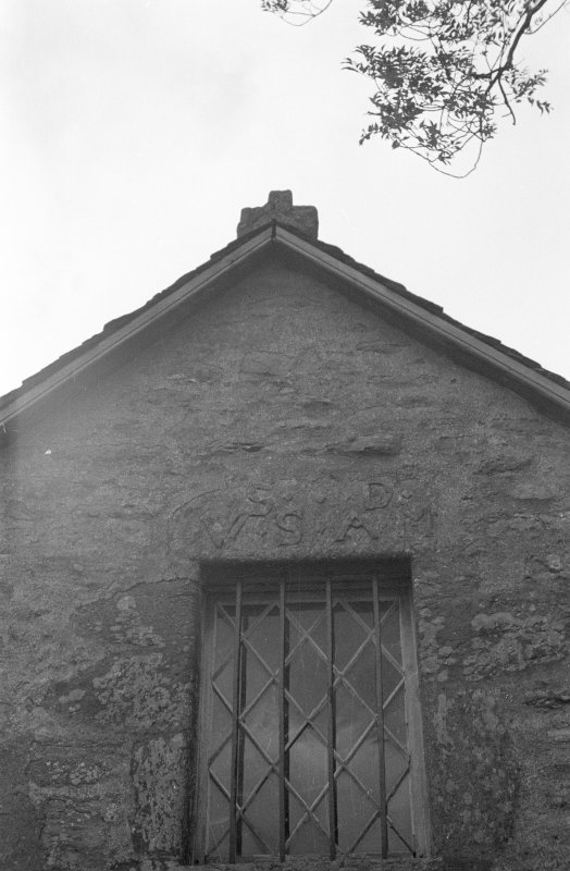 Grandtully, St Mary's Church. Lintel over window in east gable.