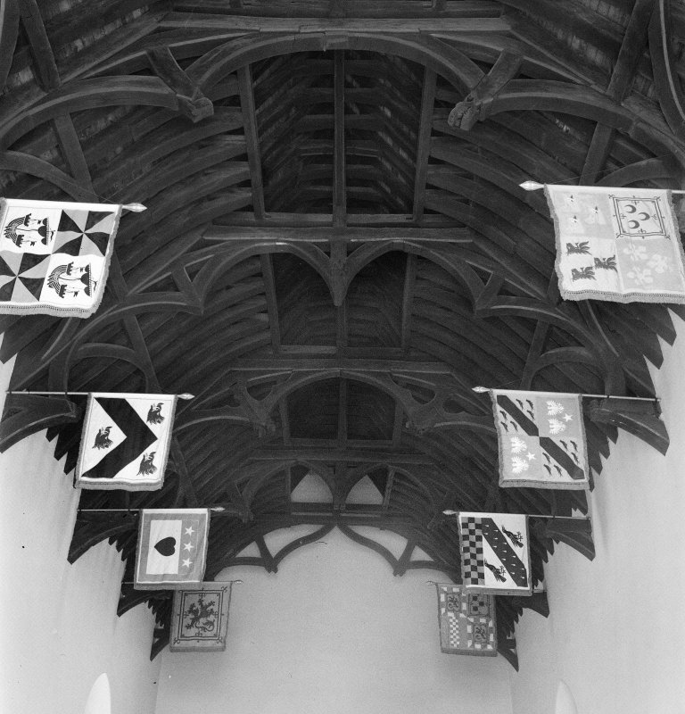 Interior. View of ceiling in Randolph's Hall
