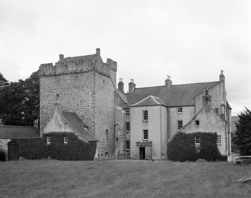 Kilravock Castle. General view from W.
