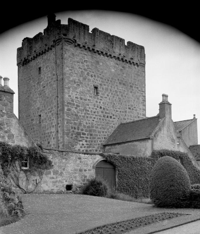 Kilravock Castle. Tower from N.