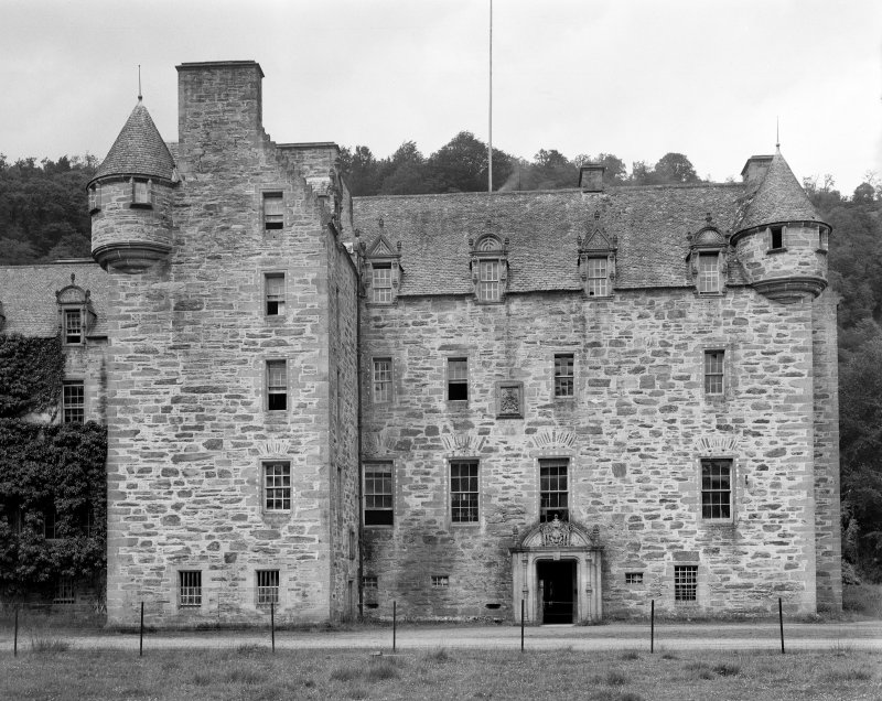 Castle Menzies. View of old portion from South East.