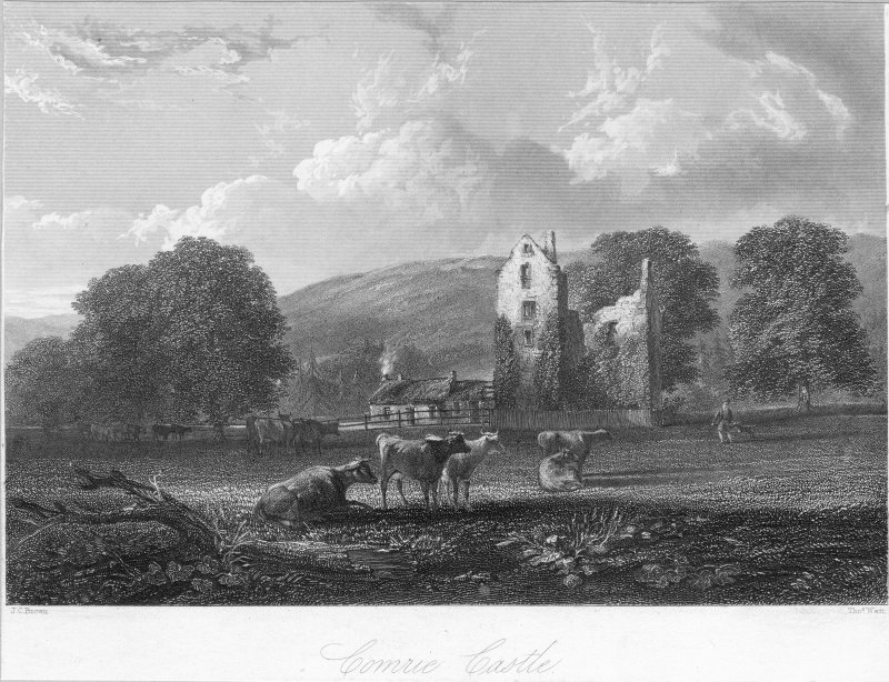 General view of Comrie Castle.