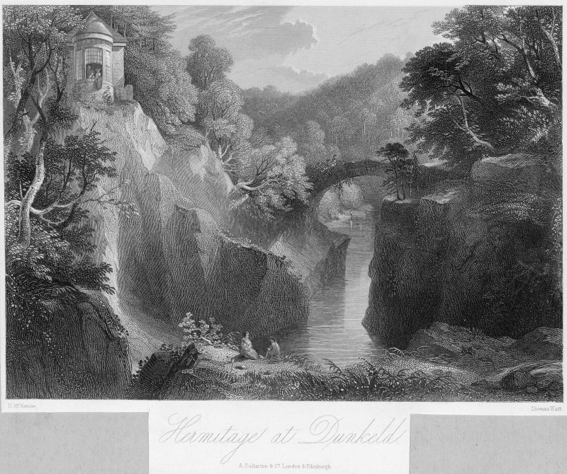 View of The Hermitage at Dunkeld.