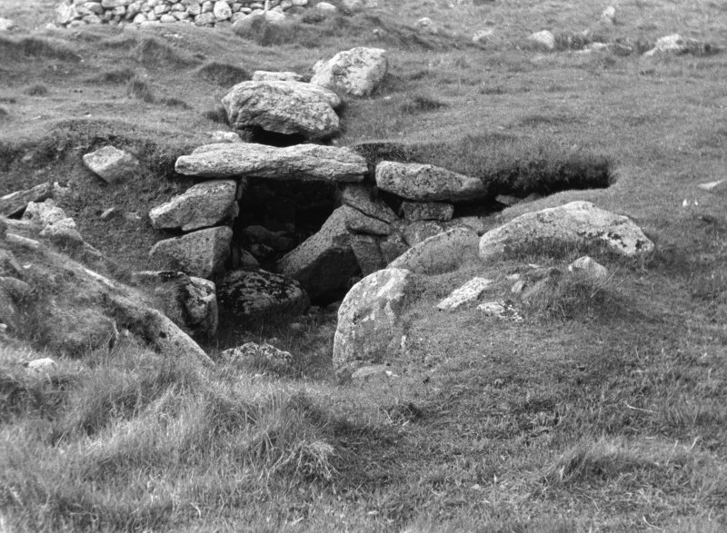 The entrance to the souterrain, St Kilda.