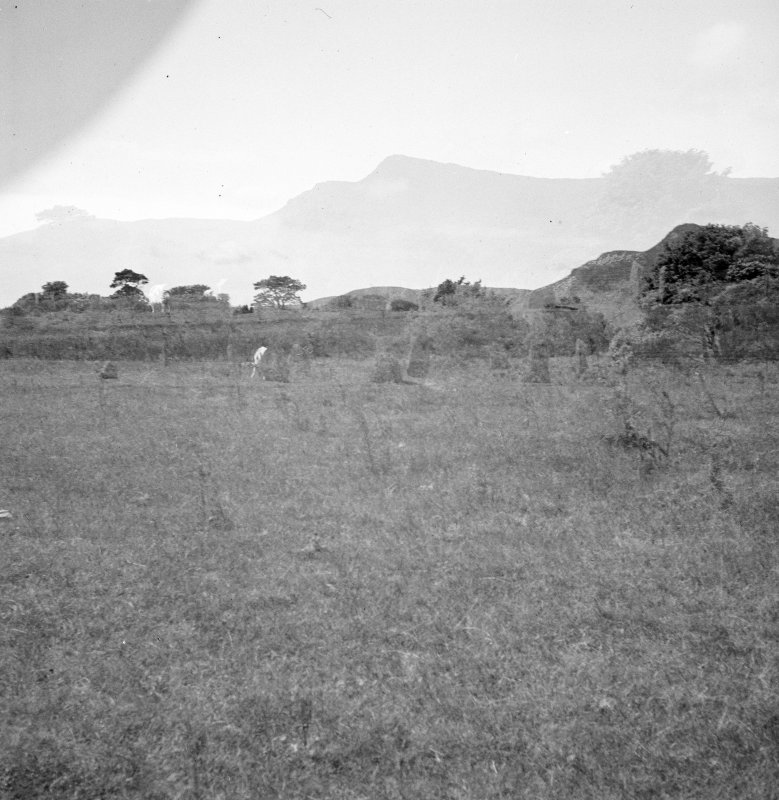 General view of stone circle at Lochbuie, Mull (damaged negative).