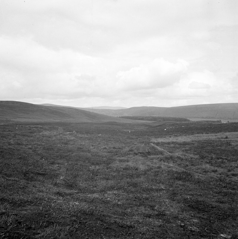 General view of Corogle Burn stone circle (poss.).