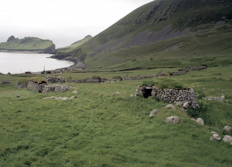St Kilda, Village Bay. Cleit 70 and souterrain from north east