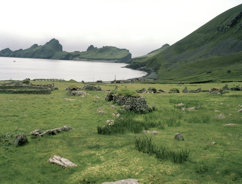 St Kilda, Village Bay. Cleit 70 and souterrain from north.