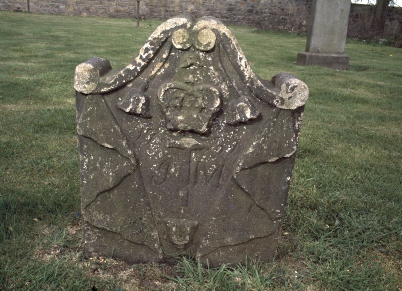 View of headstone dated 1731, Govan Old Parish Church burial ground.
