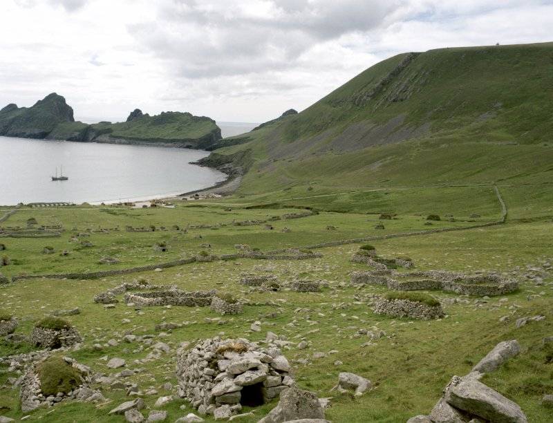 St Kilda, Village Bay. General view facing south west.