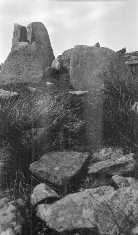 Chambered cairn and stone circle, Leacach an Tigh Chloiche, Unieval.