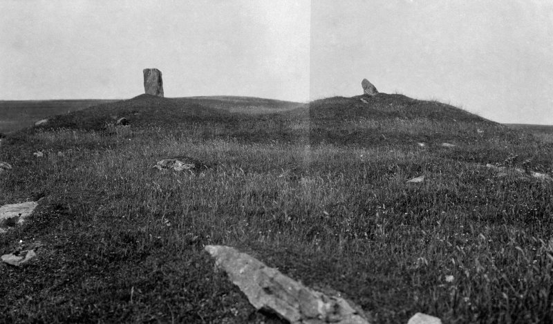 General view of standing stones at Crois Mhic Jamain.