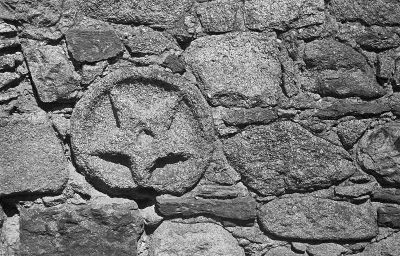 Aberdeen, Chanonry, St Machar's Cathedral. Detail of stone on graveyard.