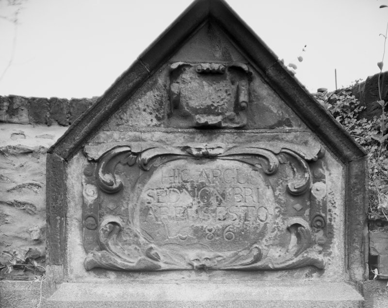 Aberdeen, Chanonry, St Machar's Cathedral Churchyard. Detail of Chancellor's glebe, near St Machar's.
