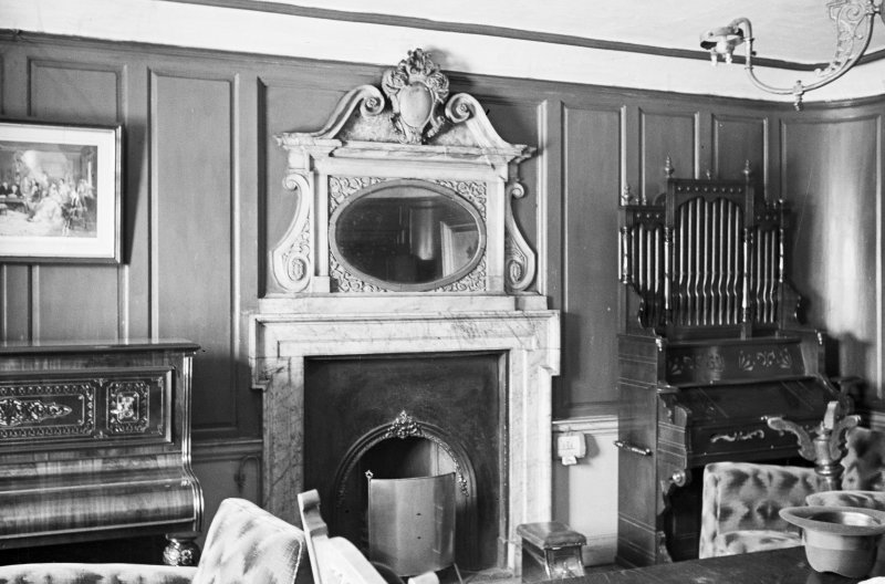 Aberdeen, Broad Street, Provost Skene's House, Interior. General view of fireplace in First Floor Room.