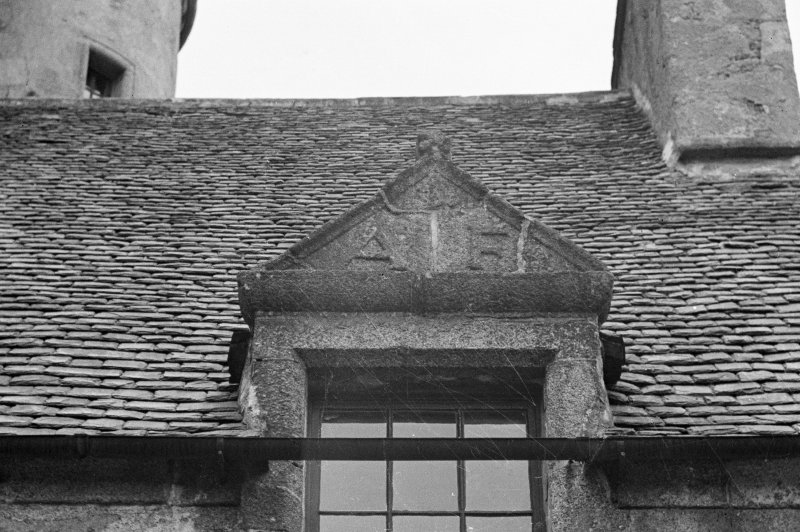 Detail of sample dormer on E wing (outside).