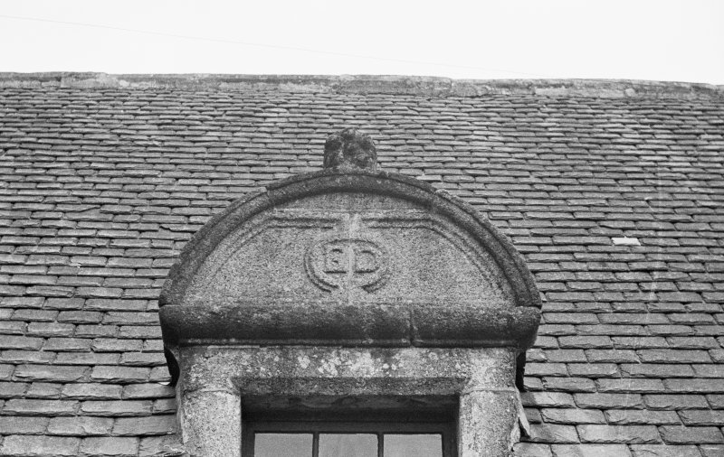 Detail of N'most dormer but one on W wing (outside).