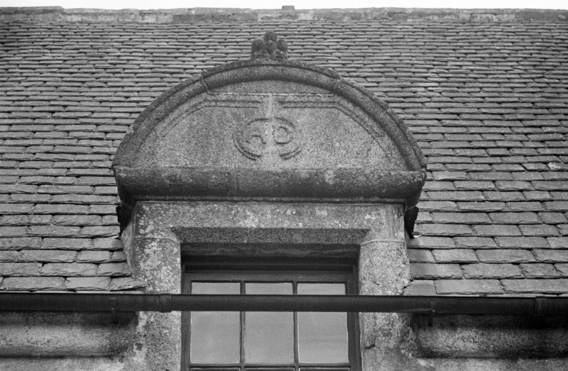 Detail of S most dormer but one on West wing.