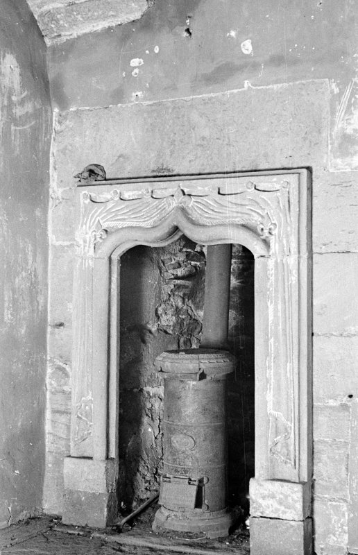 Delgatie Castle. Interior. View of niche in chapel.