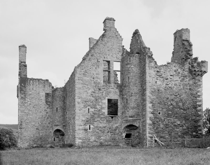 Glenbuchat Castle. View from SW.