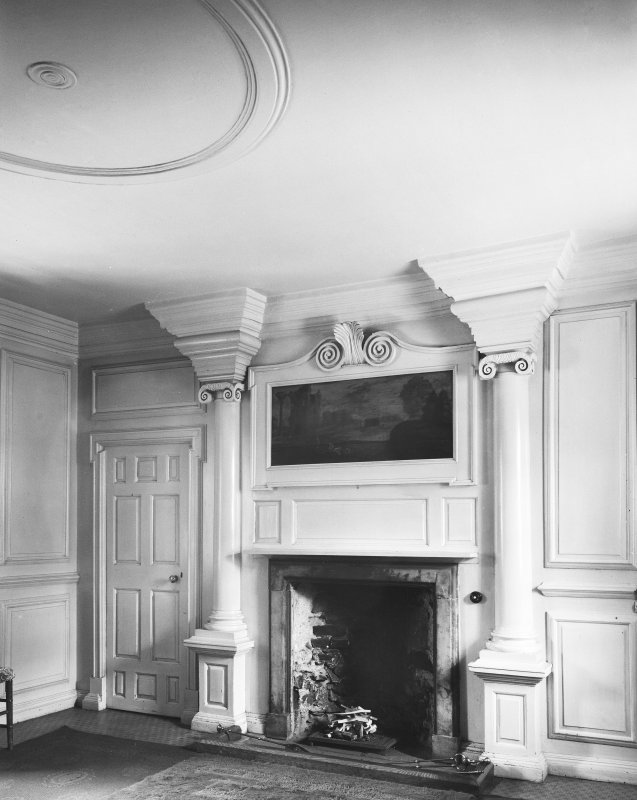Interior. View of bedroom chimney piece, first floor of wing.