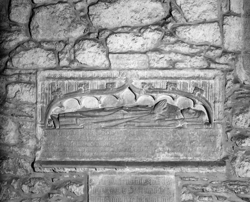 Aberdeen, Chanonry, St Machar's Cathedral, Interior. General view of wall tomb at East end of South aisle.