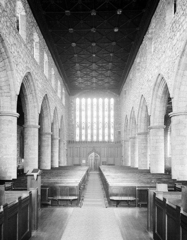 Aberdeen, Chanonry, St Machar's Cathedral, Interior. General view of interior looking West.