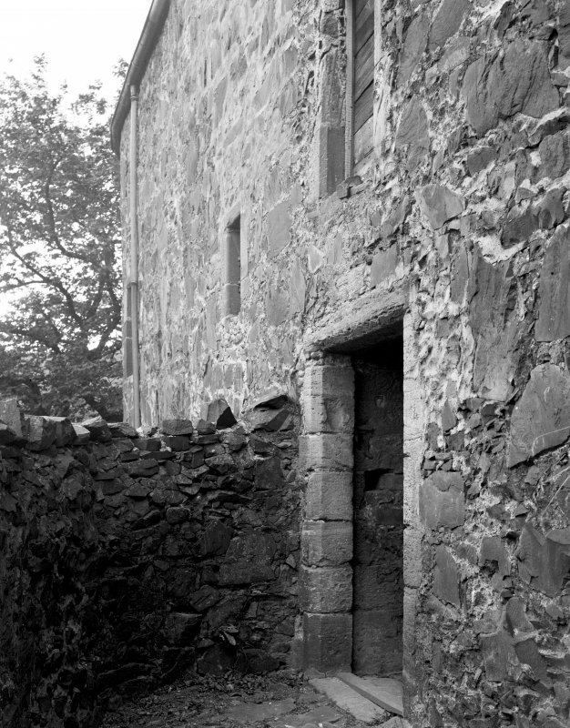 Neidpath Castle, south entrance door. Print filed with PB 67.