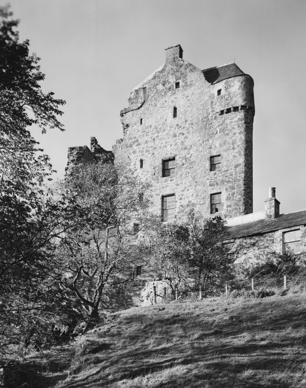 Neidpath Castle, general view from south. Print filed with PB 67.