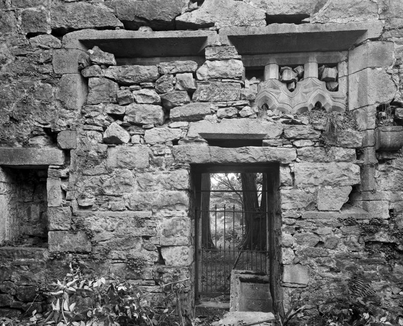 Castle Semple Collegiate Church. Interior. View of doorway.