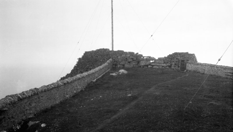 Barra Head, galleried dun, general view from east.
