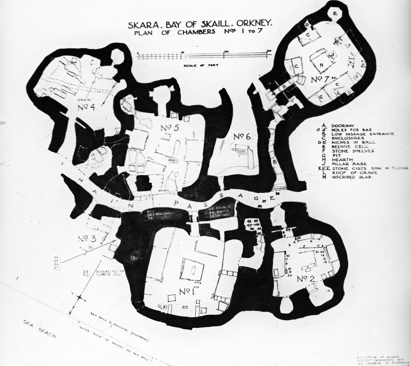 Photographic copy of plan of Skara Brae.