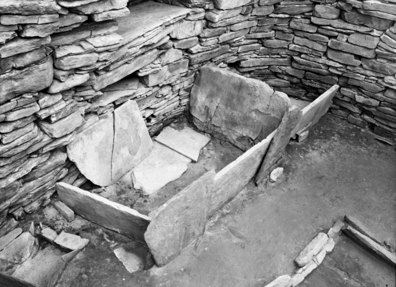 View of a bed, Skara Brae.